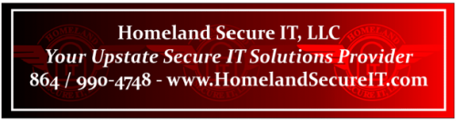 Homeland Secure IT Alert Footer