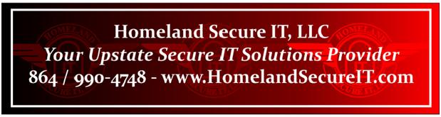 Homeland Secure IT Alert Footer