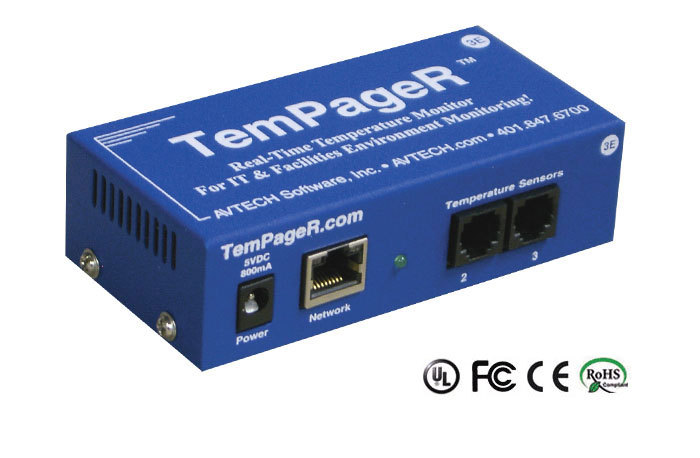 AVTECH TemPageR remote temperature monitor for server room and data cente3r