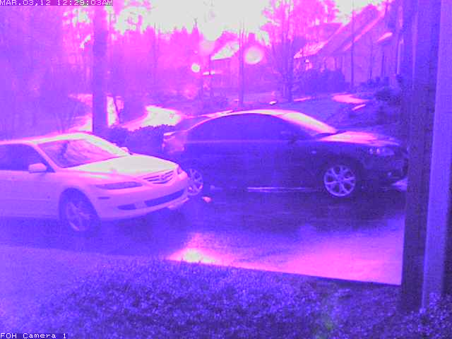 Front of House Security Camera during Lightning Strike