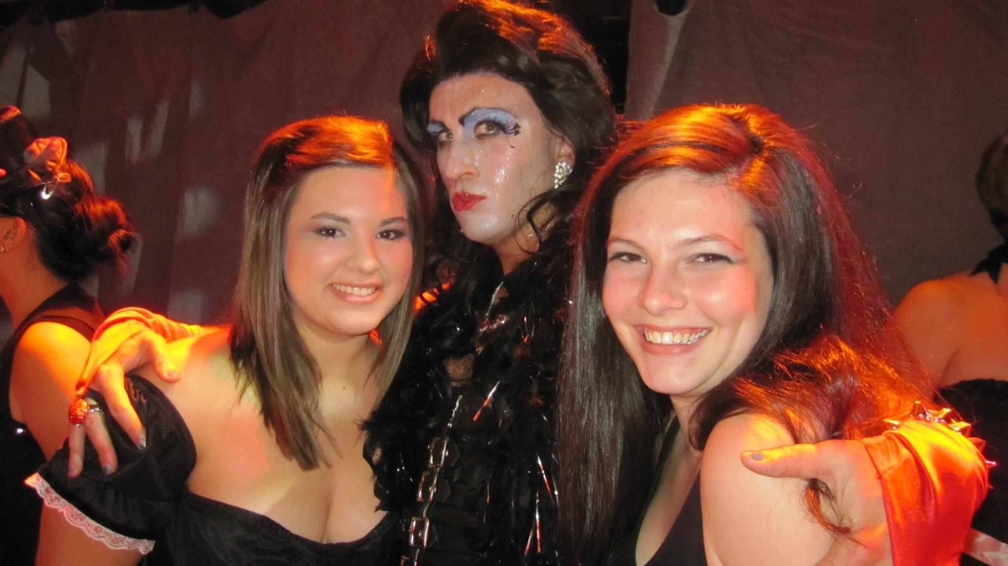 Will Ragland with Megan and Jess at Rocky Horror