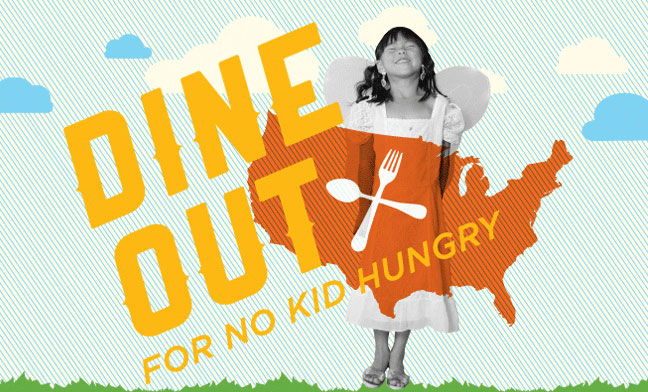 Dine out for No Kid Hungry this week, and participate in the TwEAT OUT!  #NoKidHungry