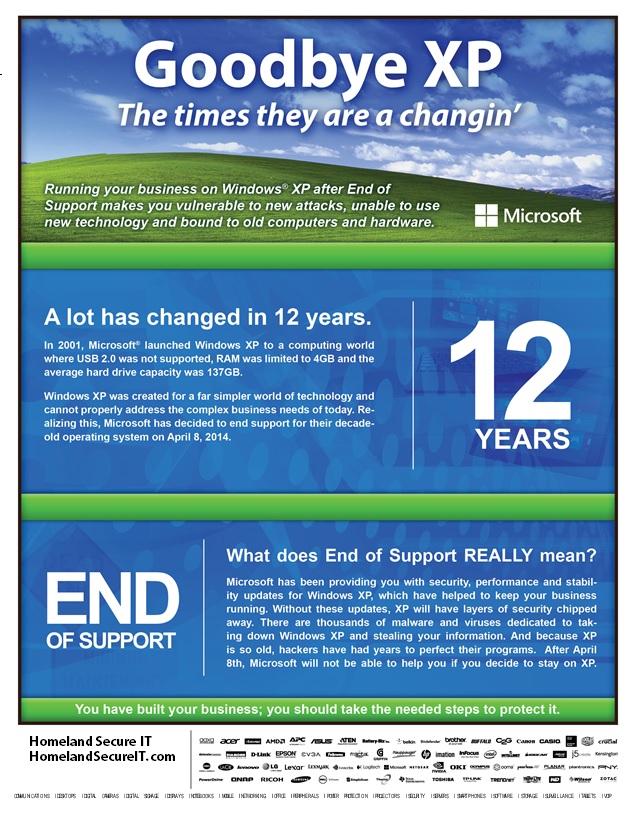 Goodbye to XP!